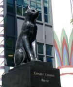 Cat outside Greater London House